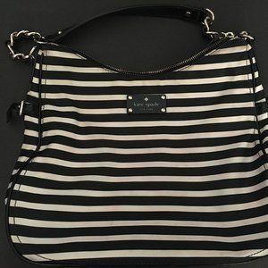 Kate Spade stripe black bag